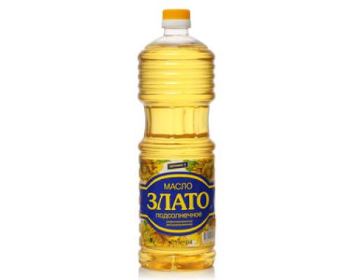 Подсолнечное масло рафинированное дезодорированное ТМ Злато