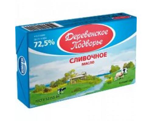 Масло сливочное ТМ Деревенское подворье, 72.5%, 180 г