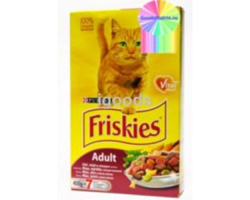 Корм сухой Friskies Adult с мясом, кукурузой и зеленым горошком ТМ Friskies (Фрискис)