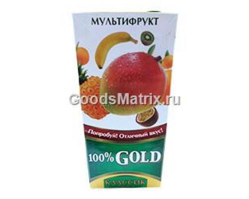 Напиток сокосодержащий ТМ 100% Gold (Голд), мультифруктовый, 1,93 л