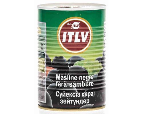 Маслины черные ТМ ITLV (ИТЛВ), б/к ж/б 390 г