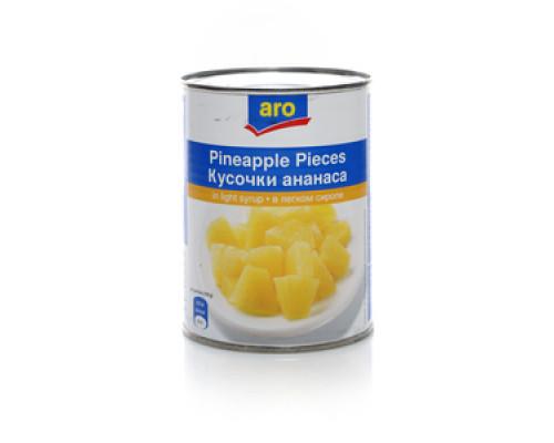 Кусочки ананаса в сиропе ТМ Aro (Аро)