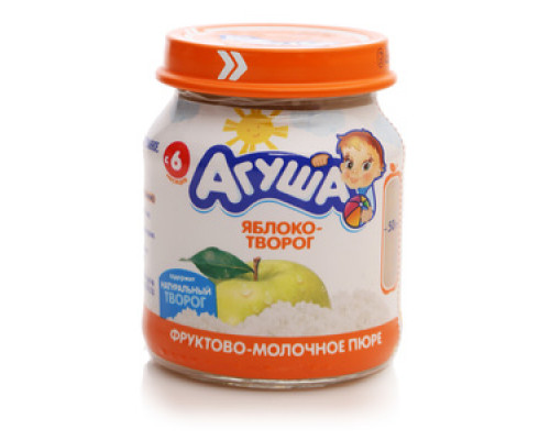 Пюре яблоко творог ТМ Агуша