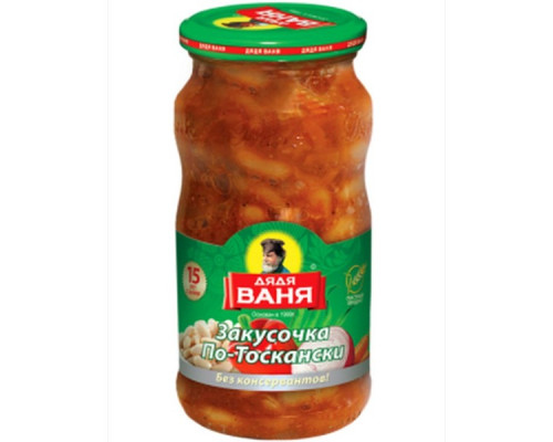 Закуска ДЯДЯ ВАНЯ Тосканская с овощами 460 г