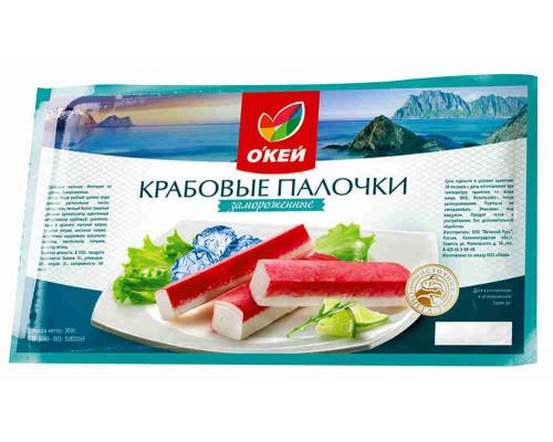 Крабовое мясо ОКЕЙ зам имит, 300г