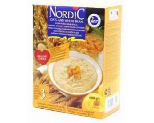 Хлопья овсяные с пшеничными отрубями ТМ Nordic (Нордик)