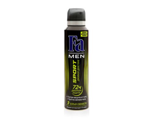 Дезодорант Fa men Sport Двойное действие Взрыв свежести  72ч двойная защита ТМ Fa (Фа)