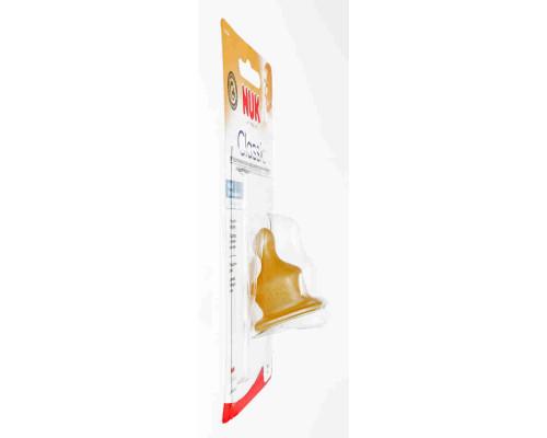 Соска Нук латекс с воздушным клапаном д/молока со средней дыркой р1 с рождения