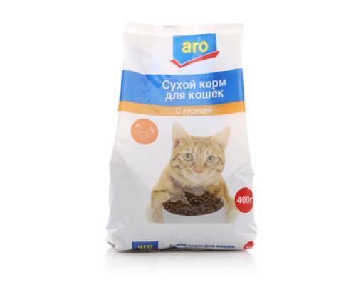 Корм сухой для кошек с курицей ТМ Aro (Аро)