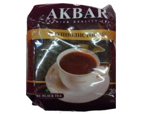 Чай черный ТМ Akbar, крупнолистной, 200 г