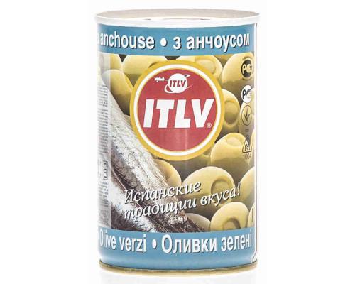 Оливки зеленые Itlv с анчоусом 300г ж/б