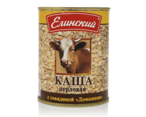 Каша перловая  говядиной ТМ Елинский
