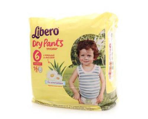 Трусики-подгузники детские 13-20кг 16 шт ТМ Libero Dry Pants (Либеро Драй Пэнтс)