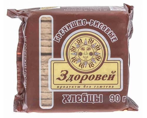 Хлебцы Здоровей гречка/рис б/глютена 90г
