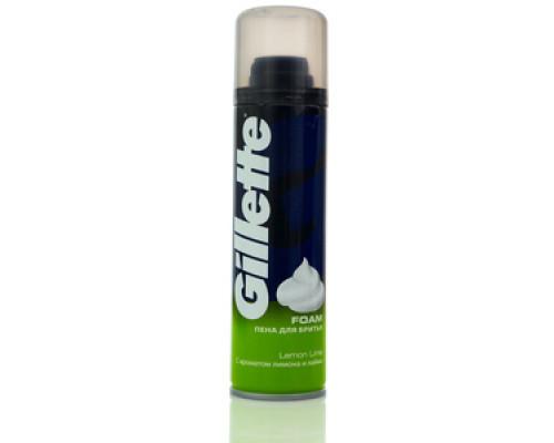 Пена для бритья с ароматом лимона и лайма ТМ Gillette (Жиллетт)