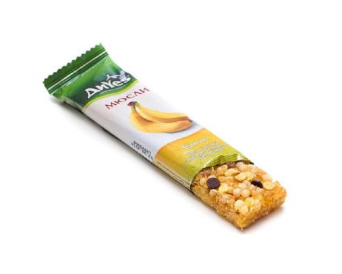 Батончик мюсли ТМ ДиYes (Диес) Банан с шоколадными каплями без сахара, 25 г