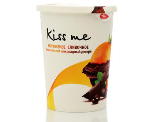 Мороженое сливочное Бельгийский шоколадный десерт ТМ Kiss Me (Кис Ми)