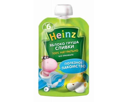 Пюре Heinz Яблоко/Груша/Сливки 90г д/пак с 6мес
