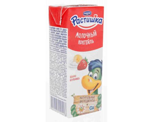 Коктейль молочный утп Danone Растишка клубника/банан 2,5% 210г