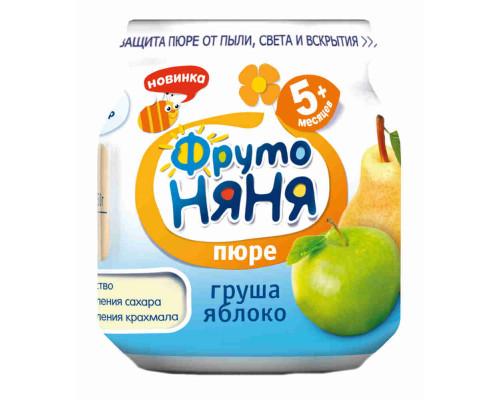 Пюре ФрутоНяня натуральное груша/яблоко д/питания детей раннего возраста 100г