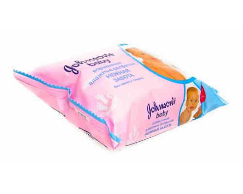 Салфетки влажные Johnson`s Baby Нежная забота 25шт