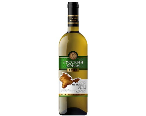 Вино Русский Крым Алиготе, белое, сухое, 10-12%, 0,75 л