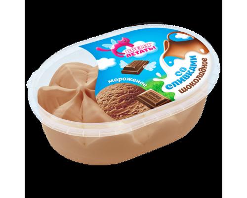 Мороженое шоколадное ТМ Время летать со сливками, 450 г
