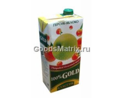 Напиток сокосодержащий персиково-яблочный 100% Gold 1,93 л