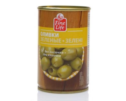 Оливки зеленые без косточки ТM Fine Life (Файн Лайф)
