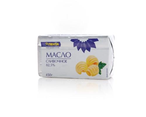 Масло сливочное сладко-сливочное несоленое 82,5% Традиционное ТМ Лента