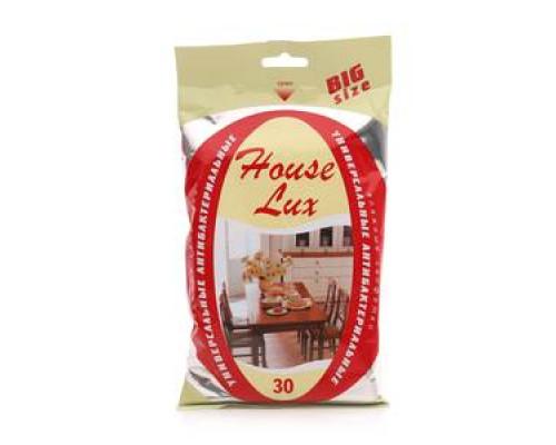 Салфетки влажные антибактериальные 30шт TM House Lux (Хаус Люкс)