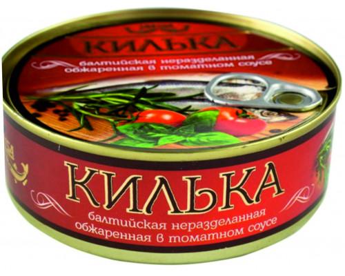 Килька балтийская ТМ Laatsa (Лаатса), обжаренная, в томатном соусе, 240 г