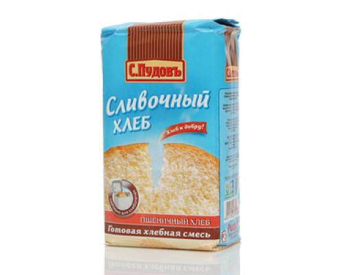 Готовая хлебопекарная смесь Сливочный хлеб пшеничный ТМ С.Пудовъ