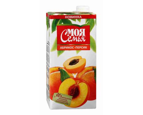 Нектар Моя Семья яблоко/абрикос/персик 2л т/п