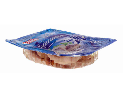 Сельдь Vici традиционная филе-кус в масле 150г