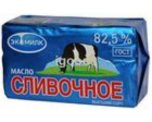 Масло сливочное несоленое вс 82,5% ТМ Экомилк, 450 г