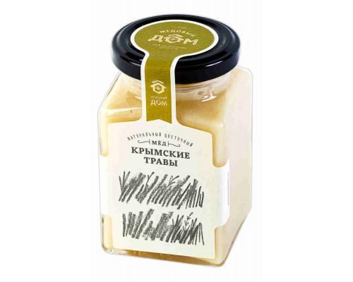 Мёд натуральный Медовый дом Крымские травы цветочный 320г ст/б