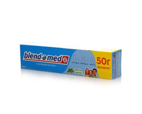 Зубная паста Мягкая свежесть с активным фтором ТМ Blend-a-med (Бленд-а-мед)