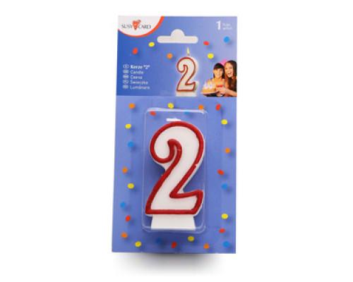 Свеча цифра '2' в торт ТМ Susy Card (Сузи Кард)