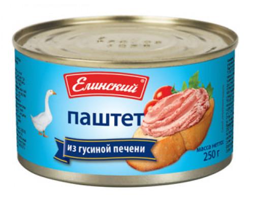 Паштет из гусиной печени ТМ Елинский пищевой комбинат, 250 г