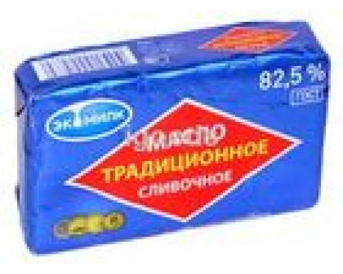 МАСЛО СЛИВОЧНОЕ 'ЭКОМИЛК' ТРАДИЦИОННОЕ 82,5%, 180 Г