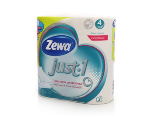 Туалетная бумага четырёхслойная TM Zewa (Зева), 4 рулона