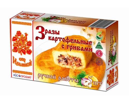 Зразы от Ильиной картофельные с грибами 5шт 500г