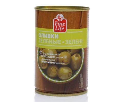 Оливки зеленые с лимоном ТM Fine Life (Файн Лайф)