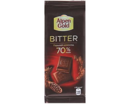 Шоколад ТМ Alpen Gold (Альпен Голд) Bitter Горький, 70% какао, 85 г
