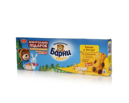 Пирожное с бананово-йогуртовой начинкой Медвежонок Барни ТМ Большевик