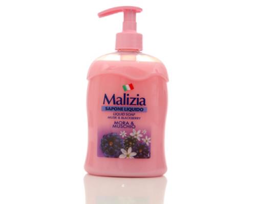 Жидкое мыло антибактериальное ТМ Malizia (Мализиа) Milk & Blackberry