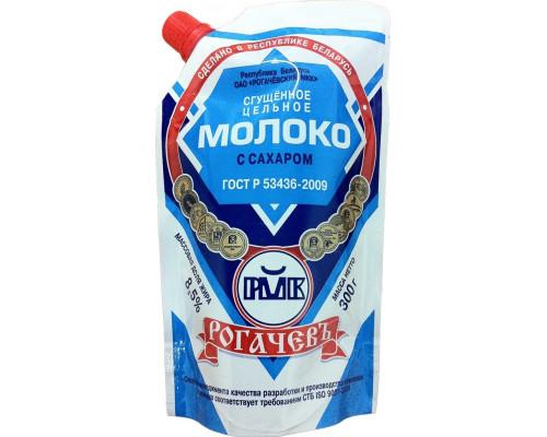 Молоко цельное сгущенное с сахаром Рогачевъ, ГОСТ, 8,5%, 300 г
