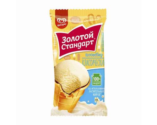 Мороженое пломбир Золотой Стандарт 86г в/ст