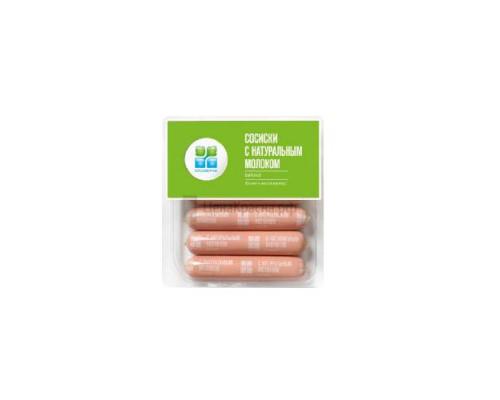 Сосиски ТМ Окраина, с натуральным молоком 420 г